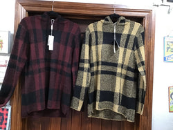 Charlie Paige Assorted Plaid Pullovers with Hood