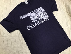 Dark Purple Floral Oklahoma T-Shirt
