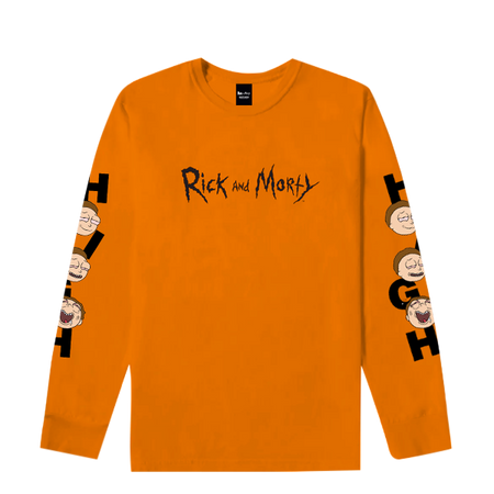 Long Sleeve Rick & Morty Orange