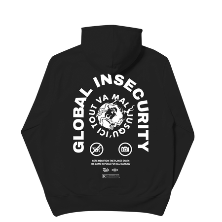 Global Insecurity Hoodie Black
