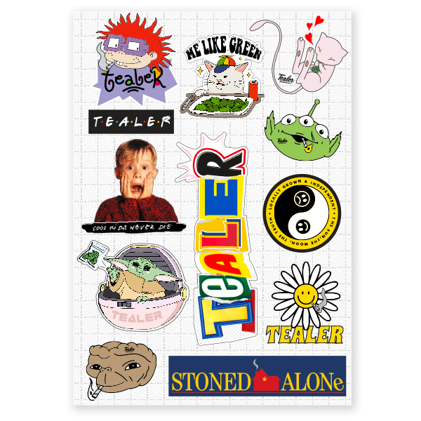Stickers Stoned Alone