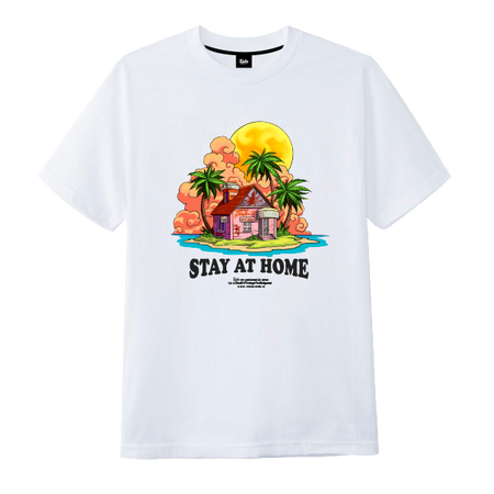 Stay At Home Tee White