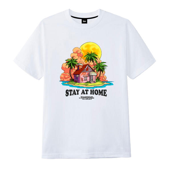 Stay At Home Tee White - Tealer