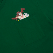 Tee Pocket Tasmanian Green