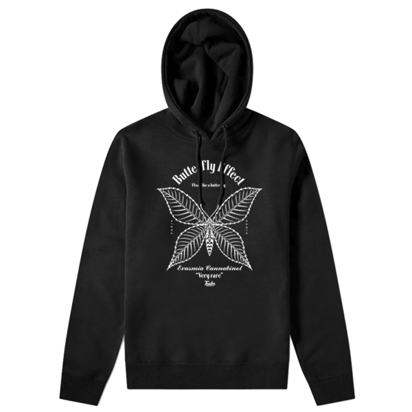 Hoodie Butterfly Black & White