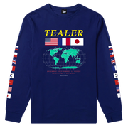 Long Tee World Blue