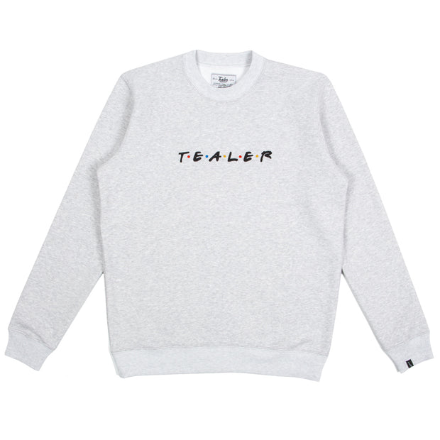 Friends And Family Embroidery Crewneck - Tealer