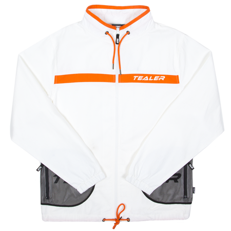 Track Jacket Closer White - Tealer