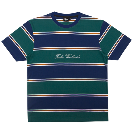 Calligraphy Striped Tee Navy