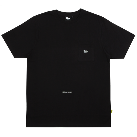 High Fit Pocket Tee Black