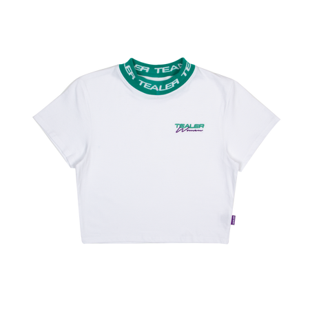Crop Tee Collar White