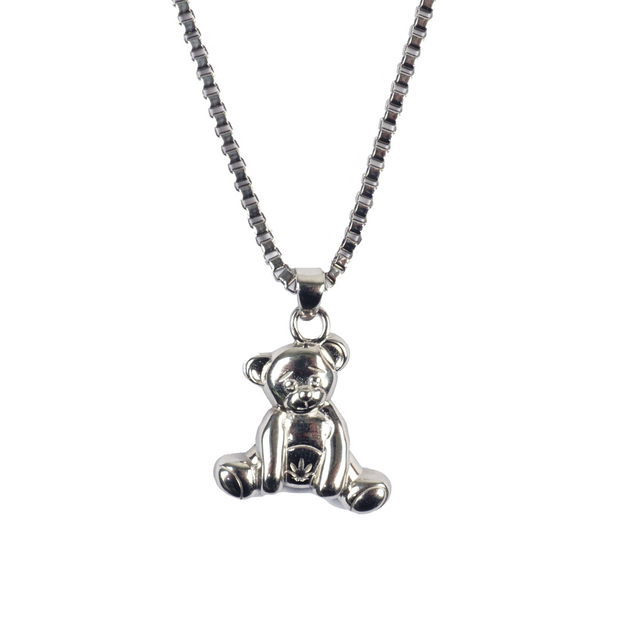 Bear Silver Rope Chain