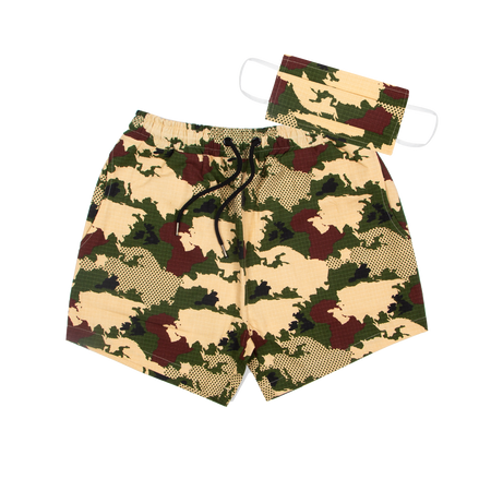 Short + Face Mask Camo - Tealer