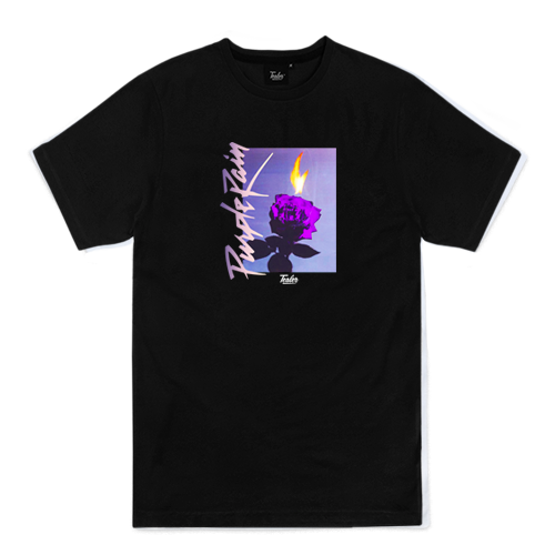 Purple rain tee black