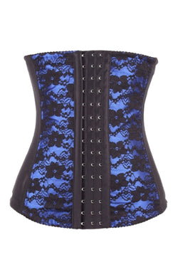 Blue Floral Print Luxurious Cellulite Reducing Latex Waist Cinchers