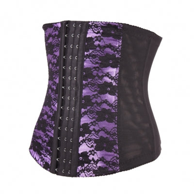 Floral Print Luxurious Cellulite Reducing Latex Waist Cinchers - Purlple