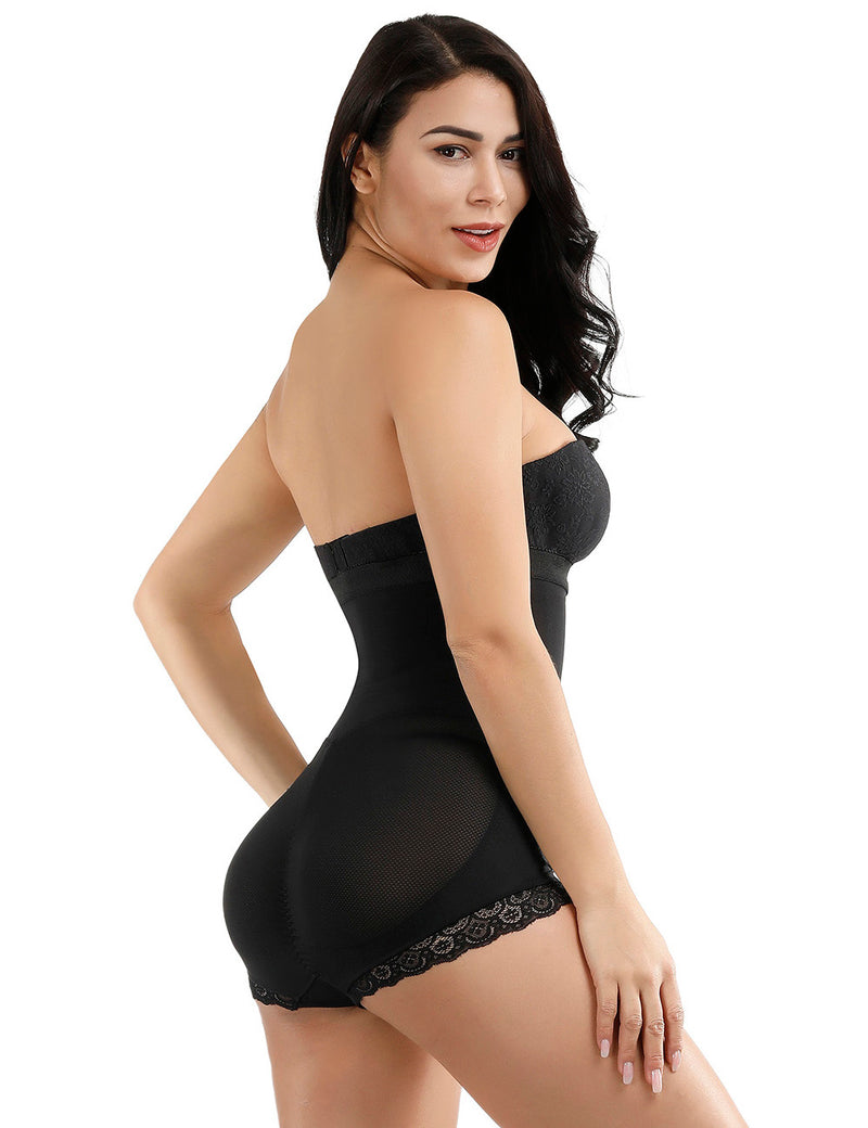 Kim's Sheer Sculpt Body Suit With Hooks