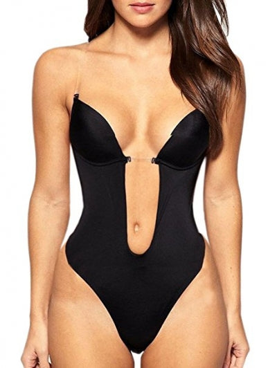 Exclusive Backless Body Shaper Chest W/ Binder Strap (BLACK)