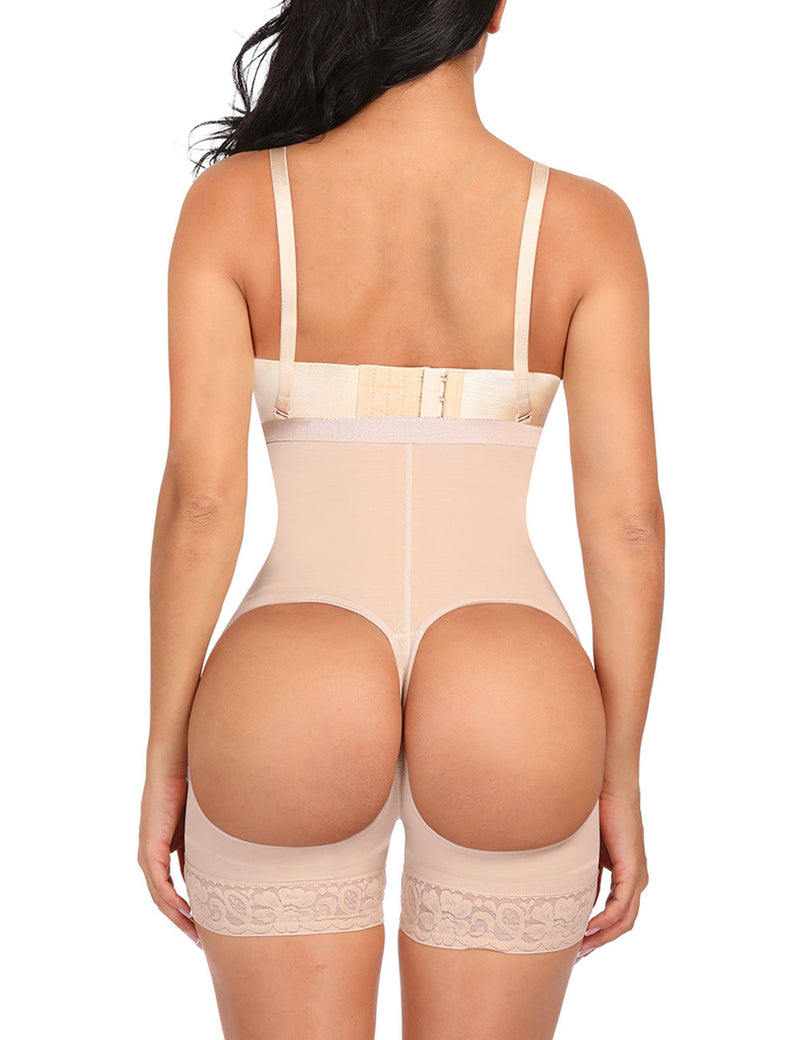 Kim's Butt Enhancing Sheer Sculpt Body Suit With Hooks