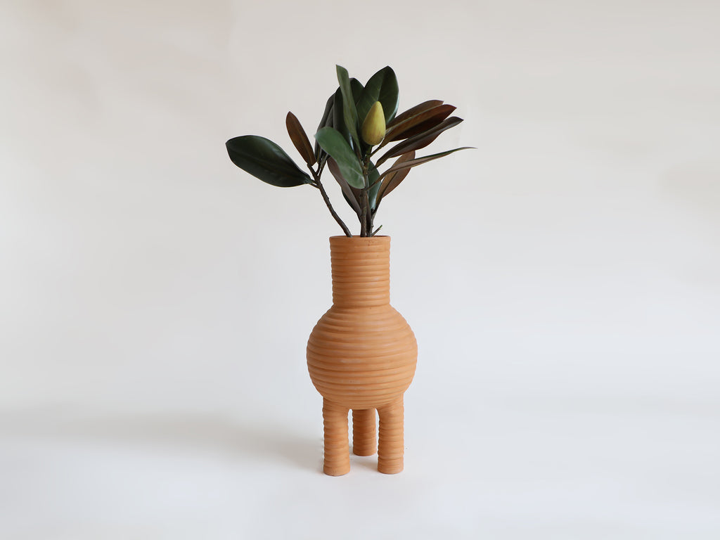 Three Legged Terracotta Vase