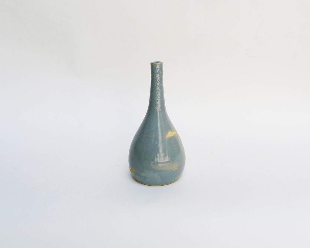 Grey Long Mouth Vase