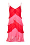 Red & Pink Tiered Dress