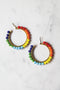 Multi Rainbow Hoop Earring