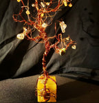 The Second Baby - Copper tree w/ Clear Quartz & Tiger's Eye