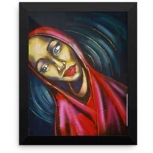 Lady In Red - Framed Print