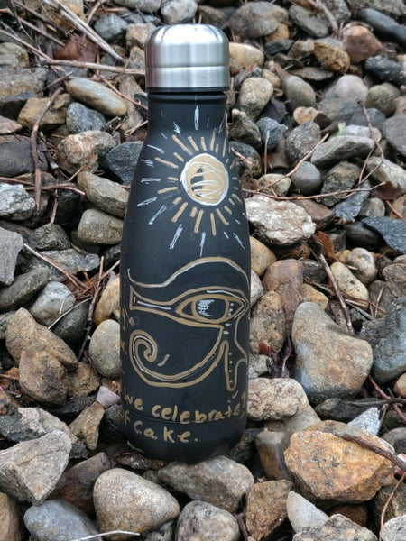 Eye of Horus #10 - 12 oz Inked Stainless Steel Water Bottle