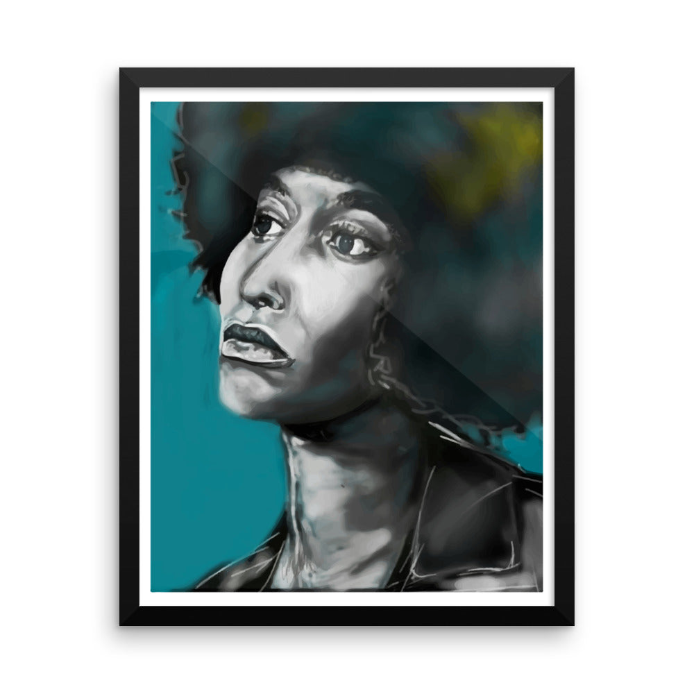 Angela Davis - Large Framed poster