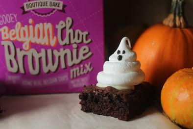 Spooky Meringue Brownies