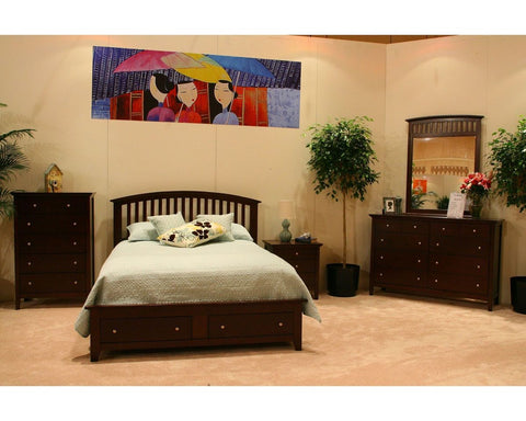 C8237A Whiskey Finish King Bedroom Set