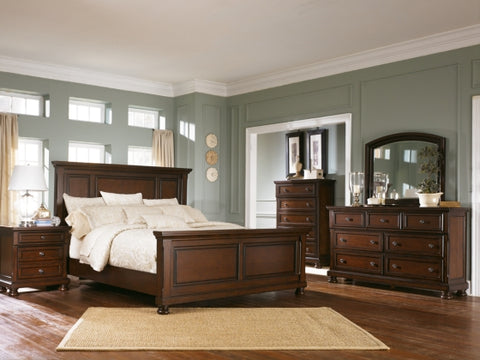 Find Ashley Porter Rustic Brown Queen Bedroom Set at Marlo Furniture