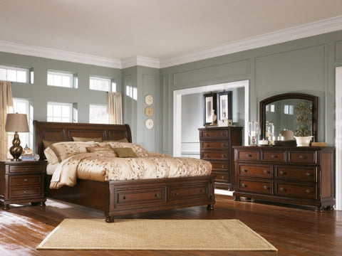 Find Ashley Porter Rustic Brown Queen Sleigh Bedroom Set at Marlo Furniture