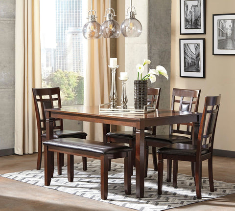 Bennox Brown Dining Room Table Set (set of 6) & Dining Room Sets | Marlo Furniture
