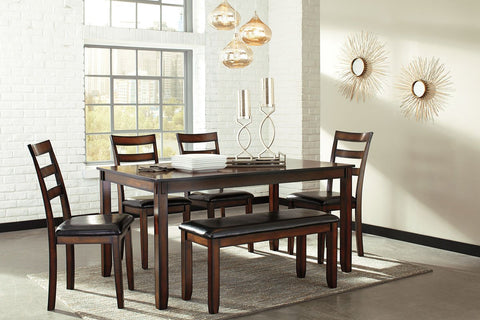 Coviar Brown Dining Room Table Set (set of 6) & Dining Room Sets   Marlo Furniture