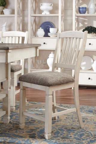 Find Ashley Bolanburg Antique White Barstool at Marlo Furniture