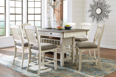 Bolanburg Antique White Pub Table And 4 Barstools