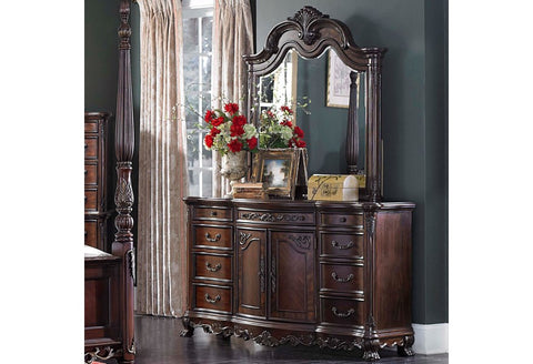 Deryn Park Brown Dresser & Mirror