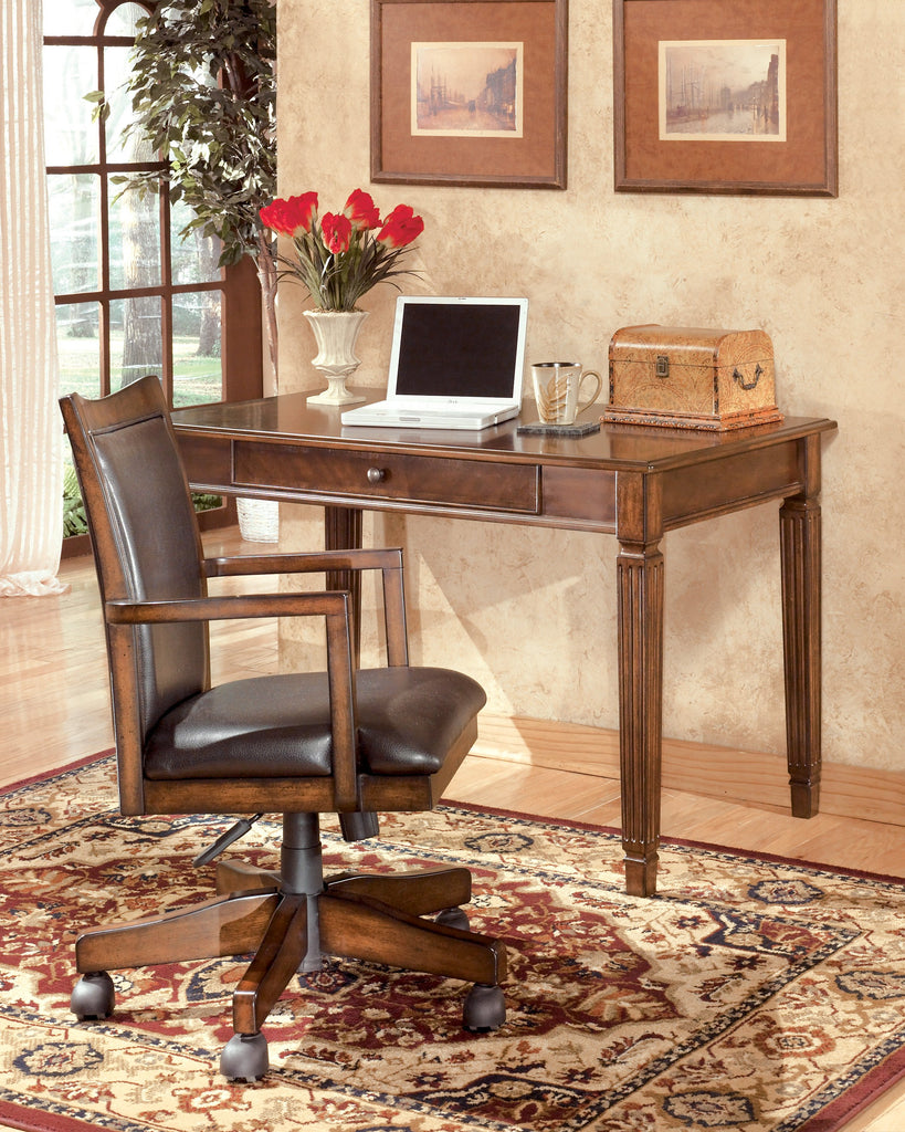 Hamlyn - Medium Brown - Home Office Desk and Chair