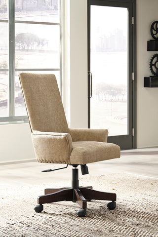 Baldridge Upholstered Swivel Desk Chair