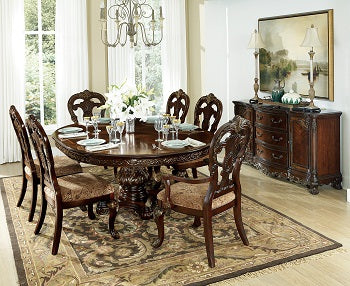 Homelegance [2243CD] Round Table & 4 Side Chairs
