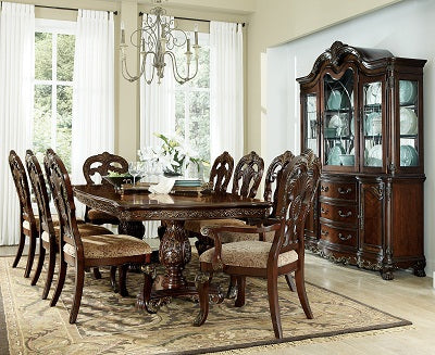 Homelegance 2243 Table, 6 Side Chair, 2 Arm Chairs, China & Buffet
