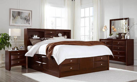 Linda - New Merlot Full Bedroom Set