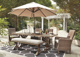 Beachcroft Outdoor dining set  w/ 4 Side Chairs and 2 Arm Chairs