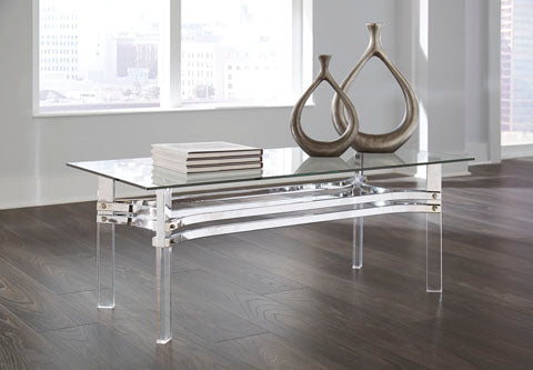 Braddoni-Chrome Cocktail Table