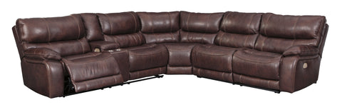 Muirfiled- Mahogany 3 Pc. Sectional