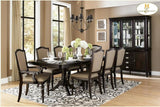 Find Homelegance Marston Dark Cherry Table and 6 Side Chairs at Marlo Furniture