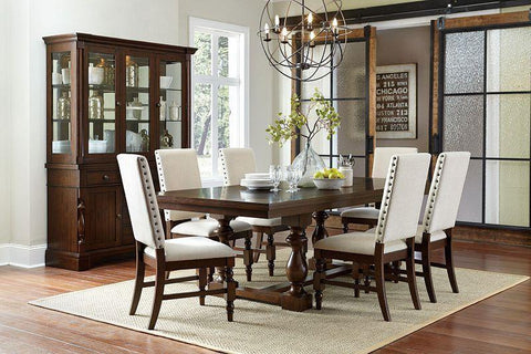 Yates Dark Oak Table And 4 Side Chairs